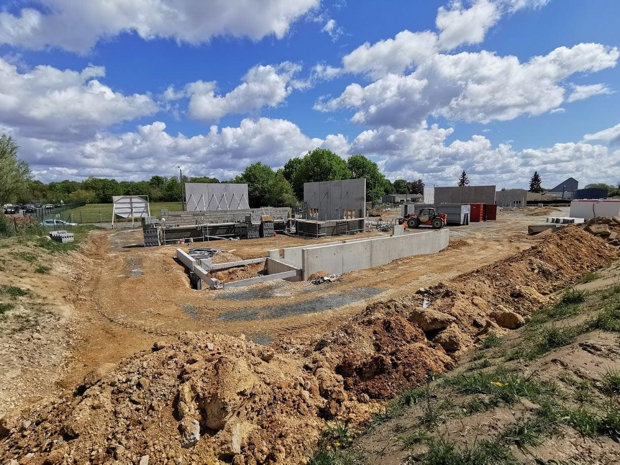 Le chantier de la zone industrielle des Tourelles
