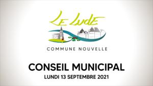 Conseil municipal du  septembre 2021